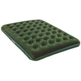 Beflocktes Luftbett/Queen-Size grün, 67555