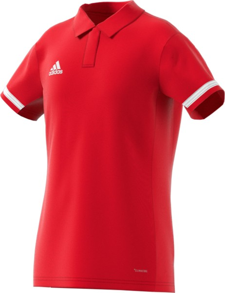 adidas T19 Polo Shirt Girls rot/weiß, DX7274