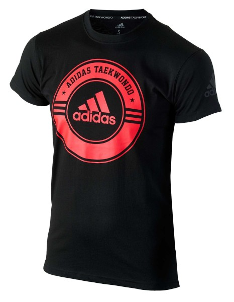 "adidas Taekwondo Community Line Shirt ""Circle"" black/red, adicsts01T"