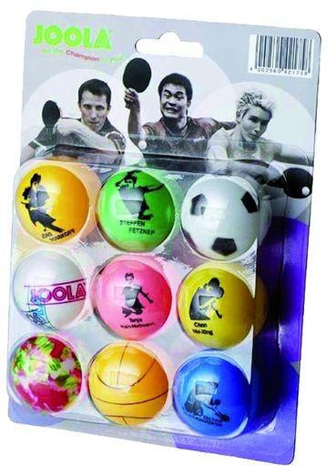 """Tischtennis Bälle 9er Pack """"Joola Fan"""", 42175"""