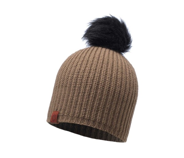 BUFF Adalwolf Knitted Hat Brown Taupe, 115405