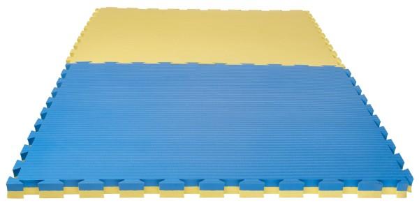 """Puzzlematte Pro """"Tatami"""" 4 cm blau/gelb Wendematte"""