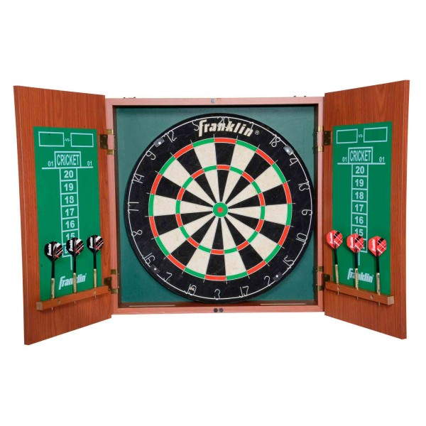 Franklin Pro Strike Bristle Dartboard with Cabinet