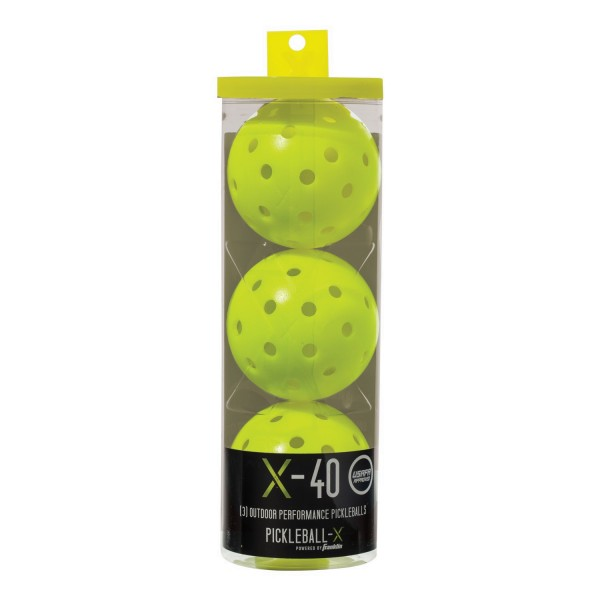 Franklin 3er Pickleball Set X-40 PK gelb