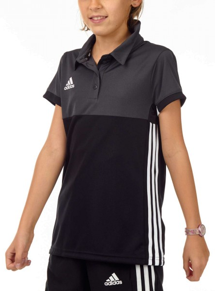 adidas T16 Clima Cool Polo Mädchen schwarz/grau AJ5257