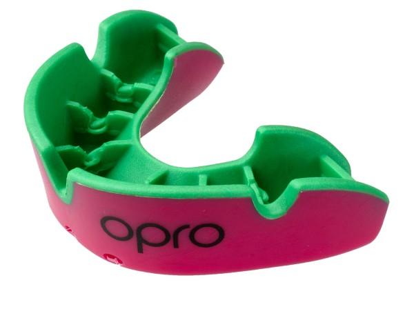 OPRO Zahnschutz Junior Silver - Pink/Fl. Green