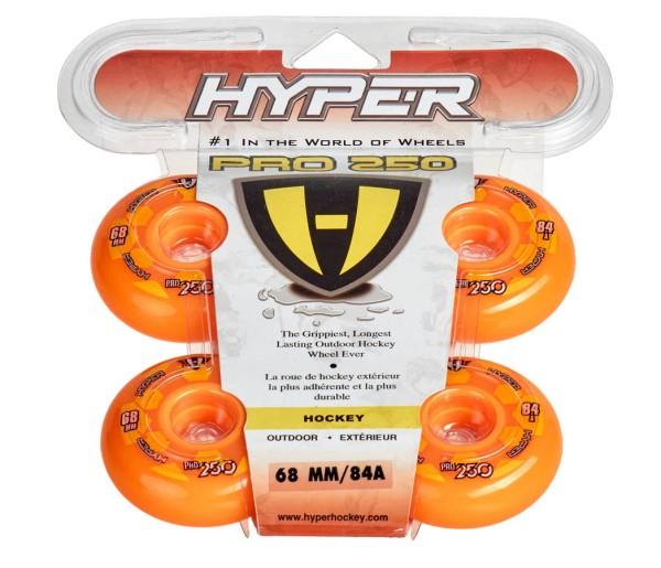 Hyper Outdoor-Rollen für Inlineskates Pro 250, Orange 72500, 84A