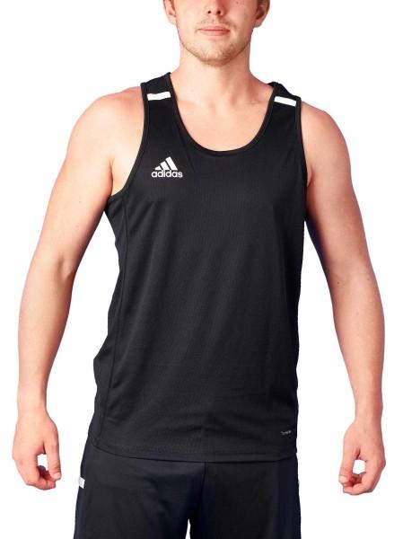 adidas T19 Singlet Shirt Männer schwarz/weiß, DW6856