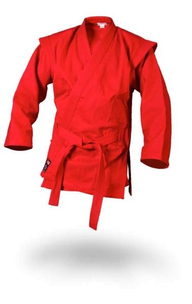 Sambo Jacke - Kurtka - rot inkl. Gürtel