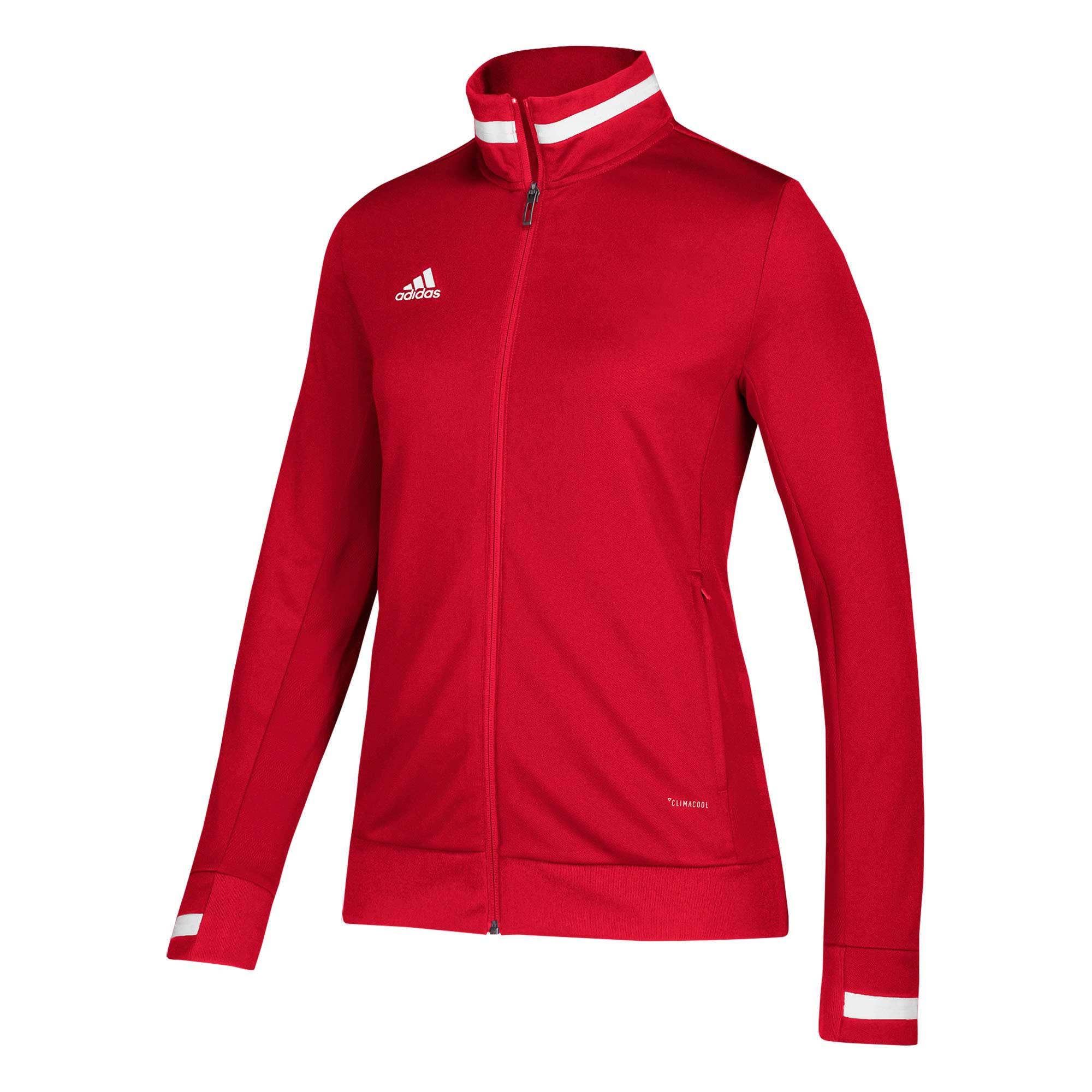 adidas T19 Woven Jacket Damen rotweiß, DX7347   Jacken T19
