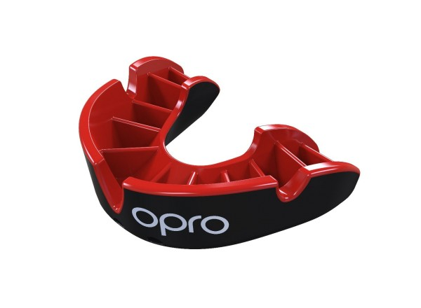 OPRO Zahnschutz Junior Silver - Black/Red