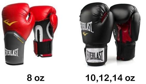 Everlast Box Handschuhe schwarz (8 - 14 oz), 6000