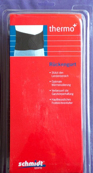 thermo+ Rückengurt Lendenstütze aus Neopren von Schmidt Sports