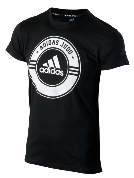 "adidas Judo Community Line Shirt ""Circle"" black/white, adicsts01J"
