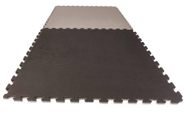Puzzlematte Econo 2 cm Crosstexture schwarz/grau Wendematte