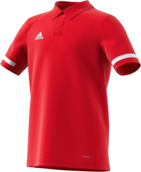 adidas T19 Polo Shirt Boys rot/weiß, DX7272