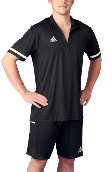 adidas T19 1/4 Shortsleeve Männer schwarz/weiß, DW6850