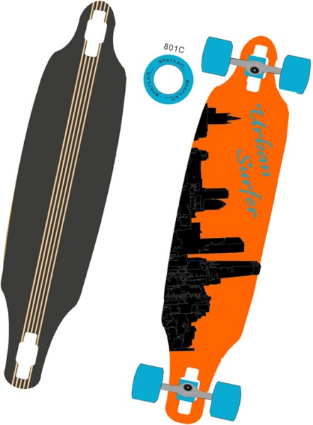 Longboard Urbann Surfer 38, 23344