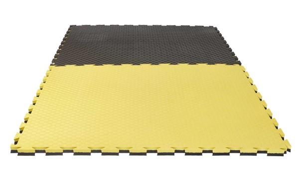 """Puzzlematte Pro """"Checker"""" 2 cm schwarz/gelb Wendematte"""
