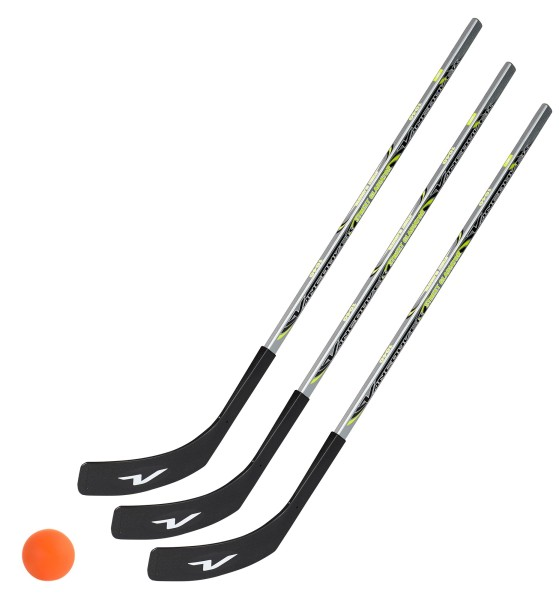 3 x Vancouver Streethockeyschläger 100 cm, Kids plus 1 Hockey-Ball