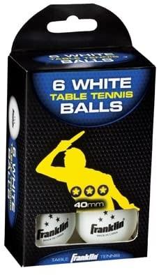 Franklin Tischtennisbälle, 6er Pack, 3-Star weiß