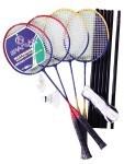 Badminton Set für 4 Spieler mit Netz, 5441