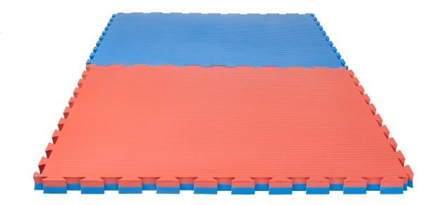 "Puzzlematte Pro""Tatami"" 4 cm rot/blau Wendematte"