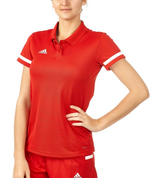 adidas T19 Polo Shirt Damen rot/weiß, DX7269