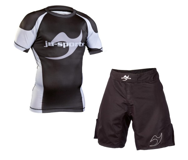 No-Gi Set: Rash Guard kurzarm + Fightshort